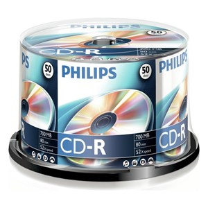CD-R Philips 700Mb 52X80Min Spindle Pack 25